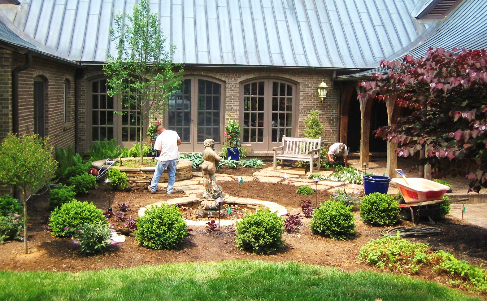Landcape water features for Water garden construction